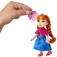 "Disney Frozen Princess Anna 6"" Petite Doll with Glittered Hard Bodice and Comb"