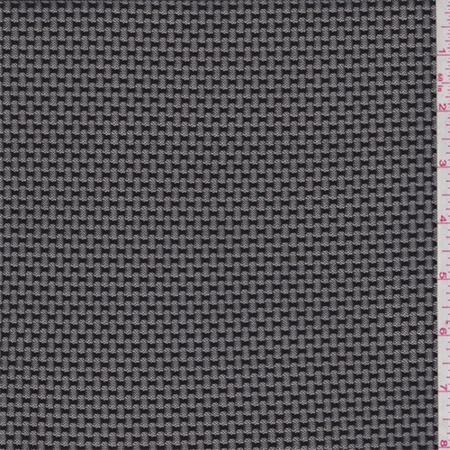 Black Pique Stretch Mesh, Fabric Sold By the