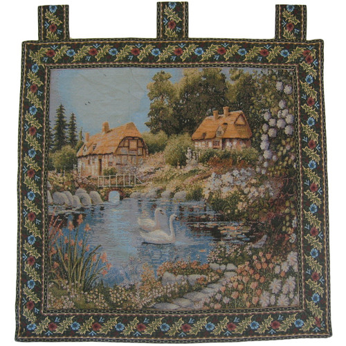DaDa Bedding Village Scene Woven Tapestry