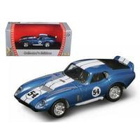 1965 Shelby Cobra Daytona #54 Blue 1/43 Diecast Model Car by Road Signature