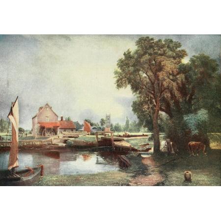 Dedham Mill Constable 1909 Canvas Art - John Constable (18 x 24)