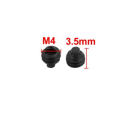 60 Pcs M4x3.5mm Alloy Steel Grade 12.9 Hex Socket Drive Dog Point Grub Screw - image 2 of 3