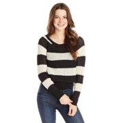 Billabong Juniors Cosmic Skies Stripe Sweater (Medium, Off Black)