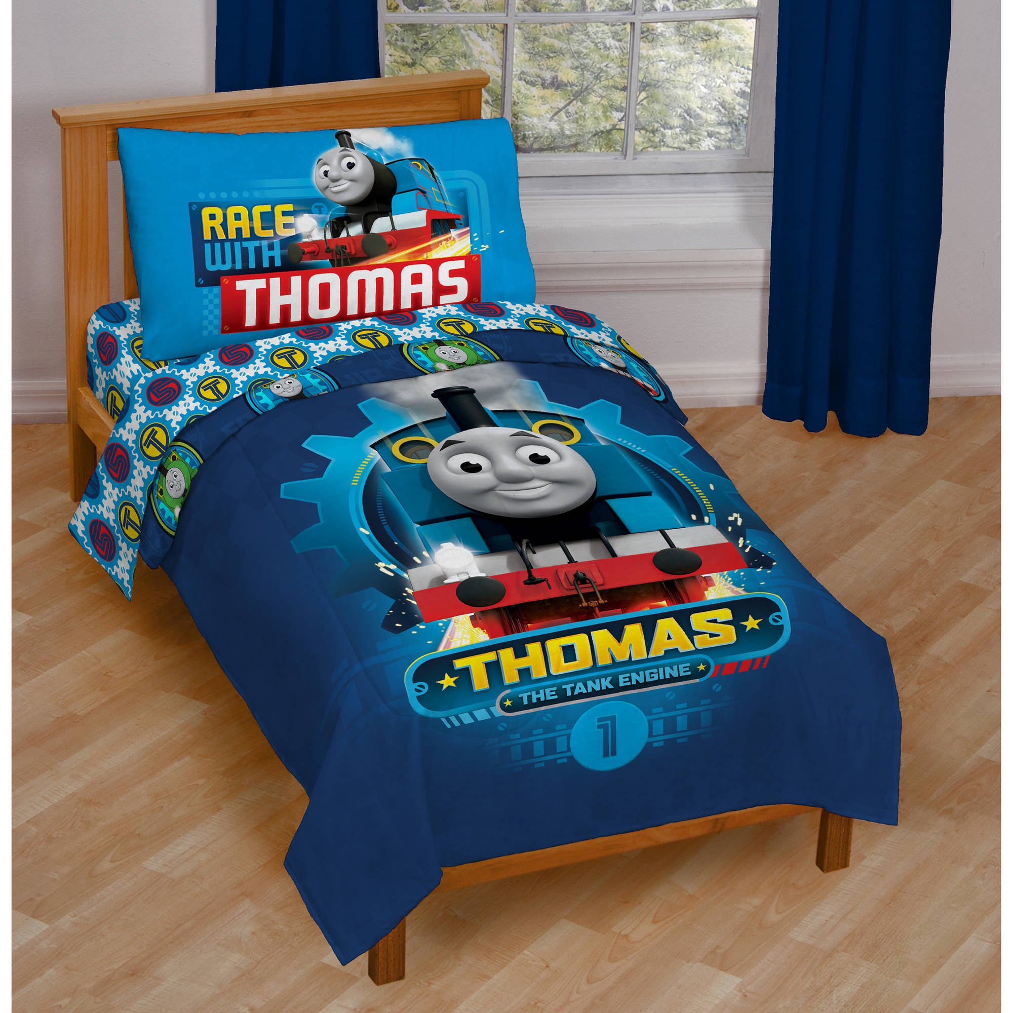 Charmant Thomas And Friends 4 Piece Toddler Bedding Set