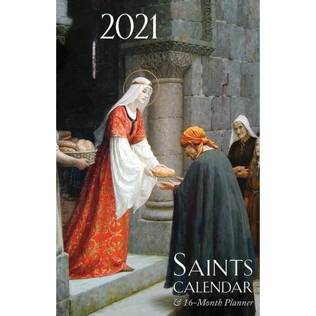 2021 Saints Calendar & Planner : Spiral Bound