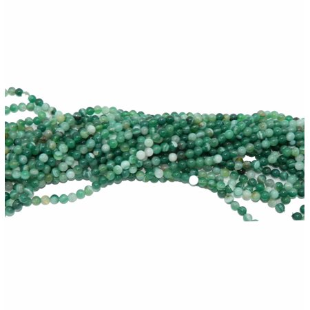 6mm Green with stripes Agate Natural Round, Loose Beads, 40cm 15 inch Stone