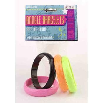 80'S BANGLE BRACELETS (4/SET)