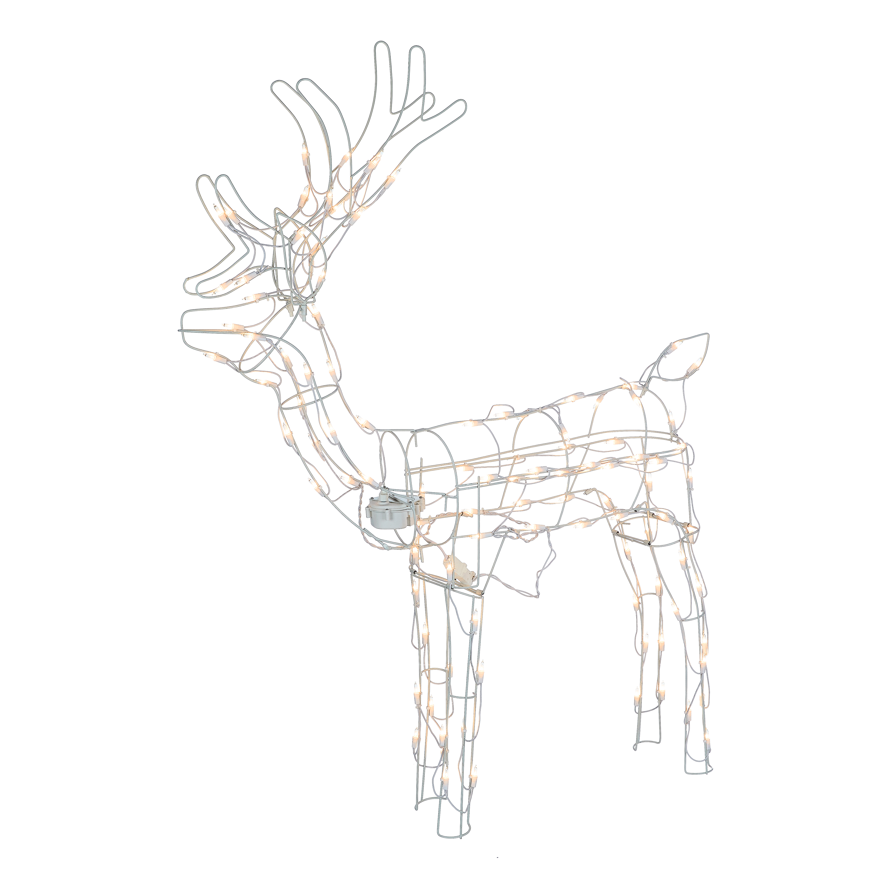 Holiday Time Animated Light Up Outdoor Reindeer Decoration