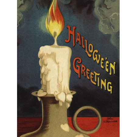 Hallowe'en Greeting Print Wall Art By Ellen H. Clapsaddle - Ellen Clapsaddle Halloween Postcards
