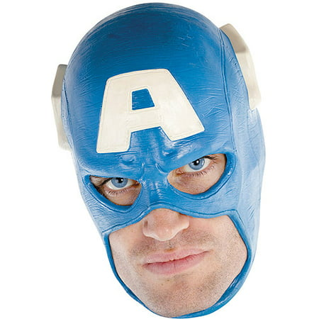 Adult Captain America Deluxe Full Vinyl Costume Mask - Captian America Mask