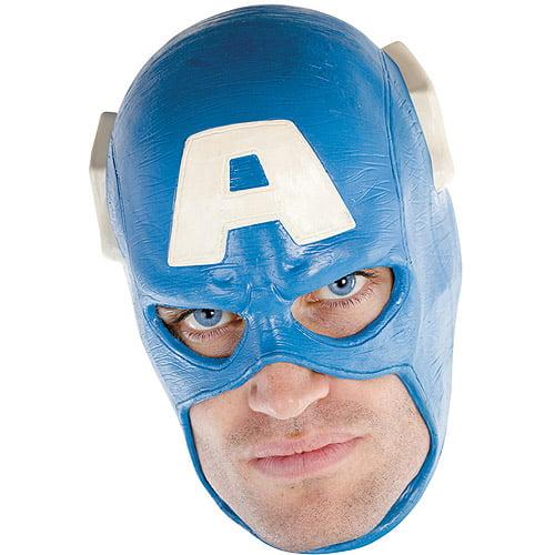 Adult Captain America Deluxe Full Vinyl Costume Mask