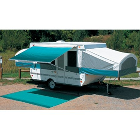 "Carefree 981385700 3.5M 11'-6"" Teal Vinyl Bag Campout Awning"