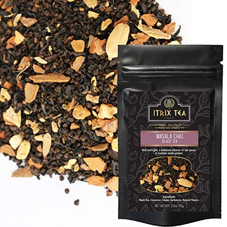 Ginger Infusion (Masala Chai Black Tea - Loose Leaves Blended With Natural Ingredient, Infused with Tea Spices-Cinnamon, Ginger, Cardamom-Energizes, Relieves Stress-Brew As Hot, Cold or Iced Tea )