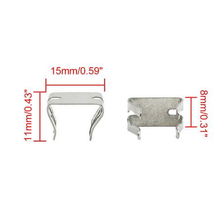 Car Dashboard Retainer Console Instrument Panel Metal Clips 15 x 11mm 30pcs - image 2 de 3