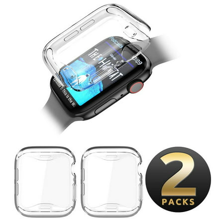 SUPCASE Apple Watch 4 Case 44mm 2018, [Built-in Screen Protector] Soft TPU Screen Protector Case [2 Color Combination Pack] for Apple Watch Series 4