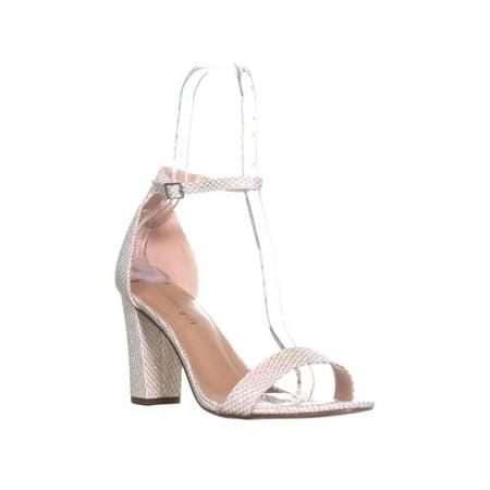 Womens madden girl Beella Ankle Strap Dress Sandals, Hologram Mesh - Off Madden Girl