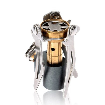 45g Portable Folding Mini 3000W Camping Stove Outdoor Gas Stove Survival Furnace Stove Pocket Picnic Cooking Gas