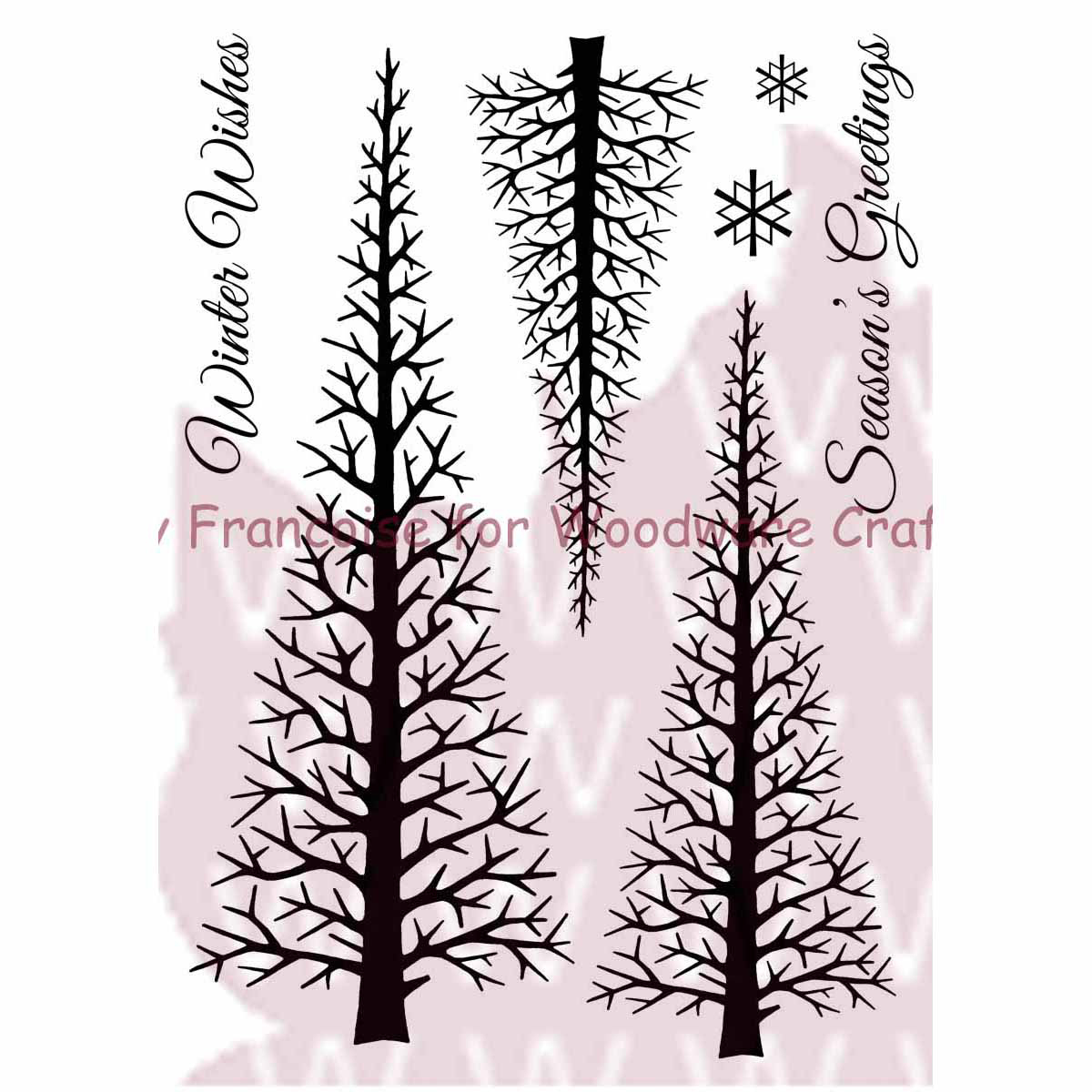 "Woodware Clear Stamps 3.5""X5.5""-Winter Forest"