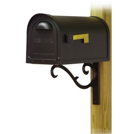 Special Lite Products Classic Curbside Mailbox with Sorrento Mailbox Mounting Bracket