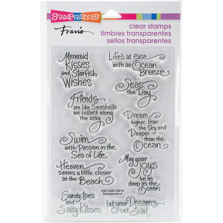 Stampendous Perfectly Clear Stamps -Ocean Wisdom - Clear Stamps
