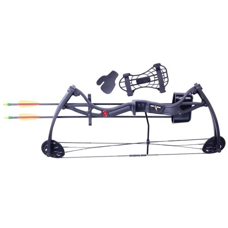 CenterPoint Wildhorn AYC2926 Compound Bow w/2 Arrows, Arm Guard,