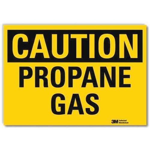 LYLE U4-1608-RD_10X7 Safety Sign,Propane Gas,Blck/Yellow,7inH G2278565