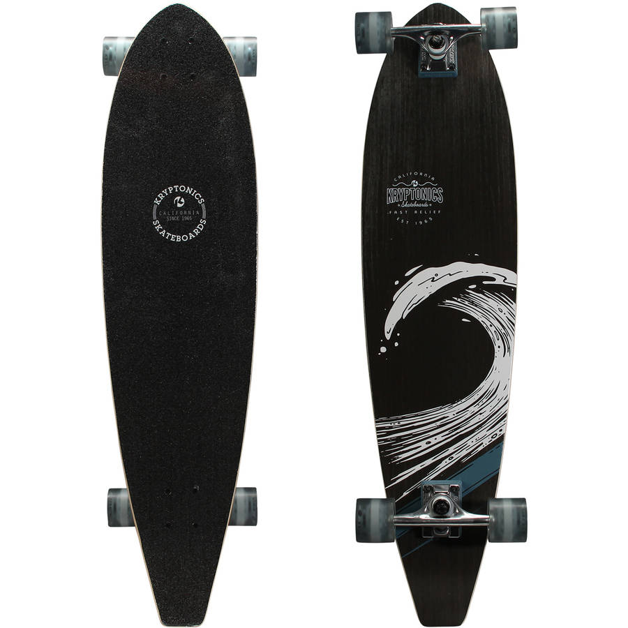 "Kryptonics 36"" Longboard Complete Skateboard (36"" x 9"") by Bravo Sports"