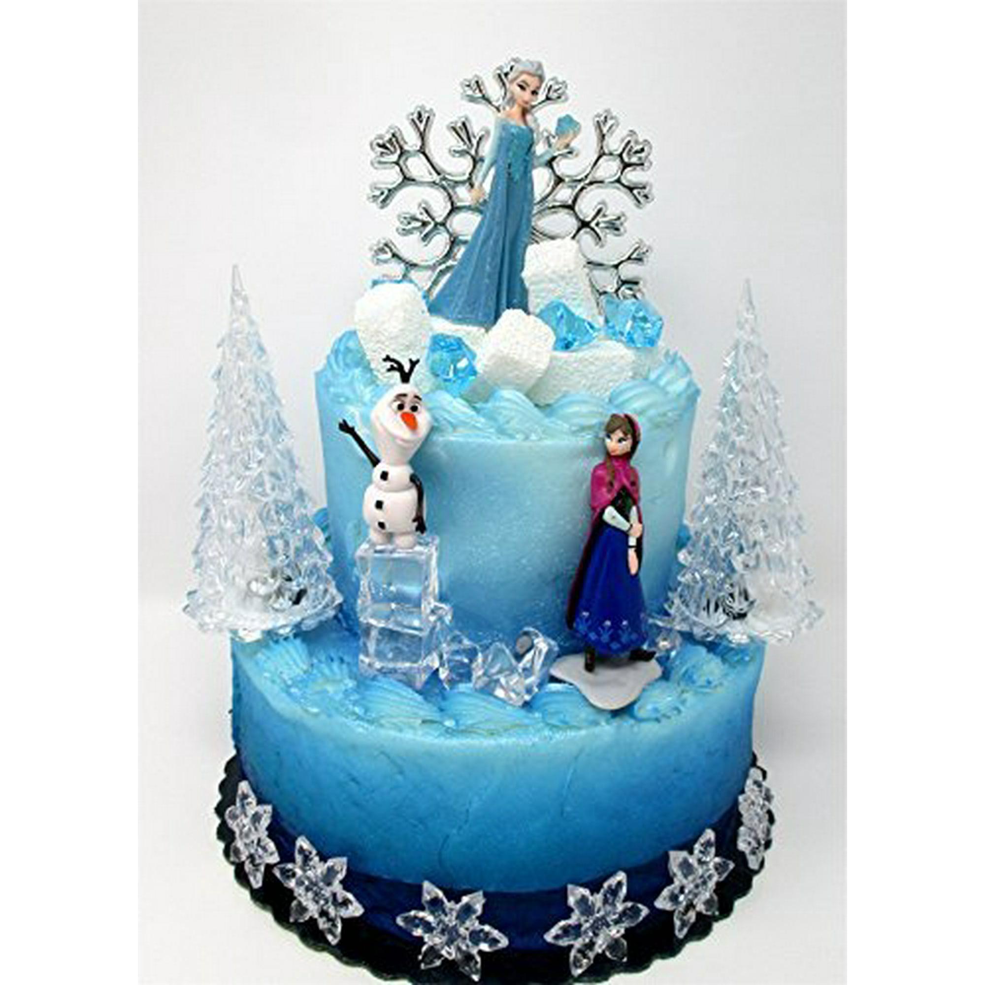 Enjoyable Winter Wonderland Princess Elsa Frozen Birthday Cake Topper Set Funny Birthday Cards Online Fluifree Goldxyz