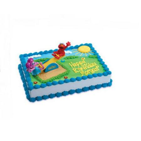 Wal Mart Bakery Sesame Street Elmo And Abby Cadabby Cake DecoSet