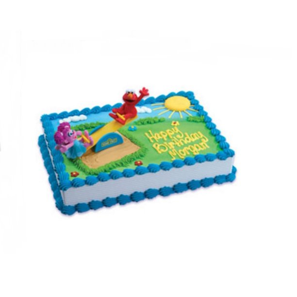 Brilliant Wal Mart Bakery Sesame Street Elmo And Abby Cadabby Cake Decoset Funny Birthday Cards Online Elaedamsfinfo