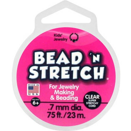 Polygon Bead - Toner Plastics, Inc. Bead N' Stretch, Clear, 75 Ft.
