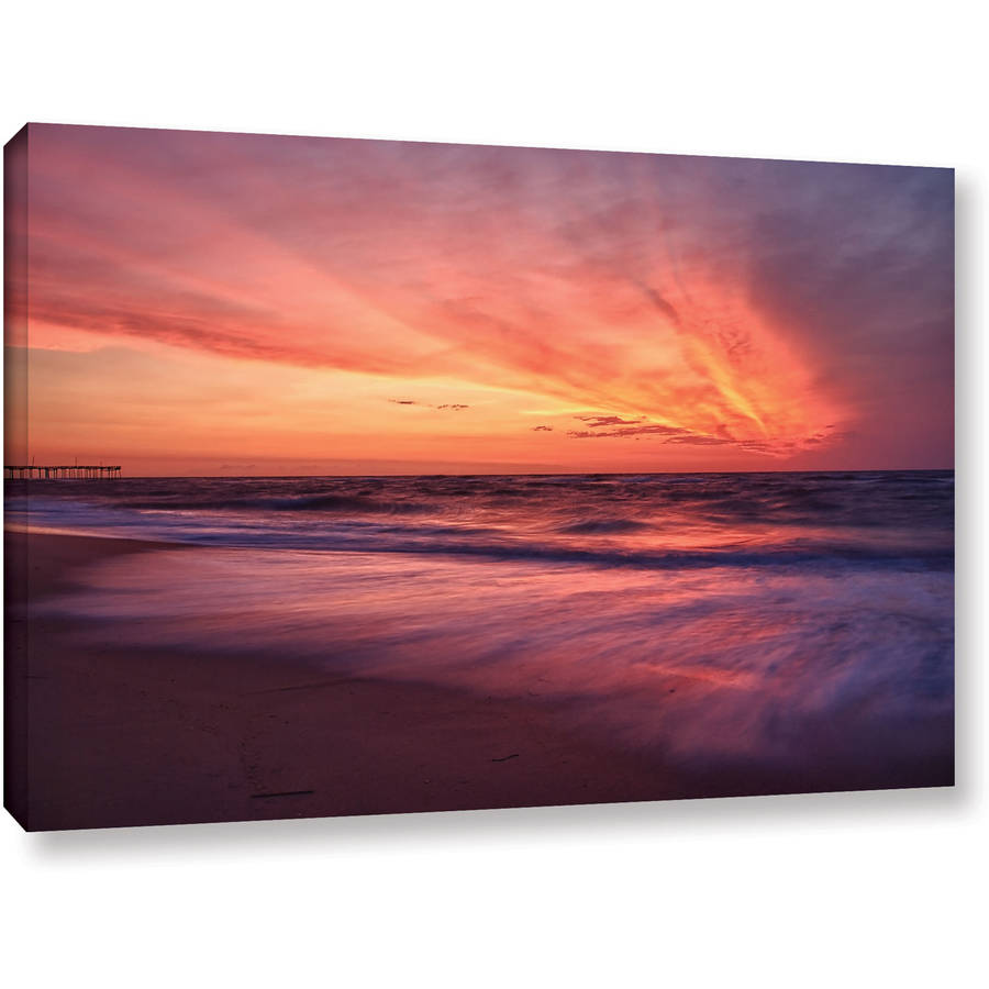 "ArtWall Dan Wilson ""Outer Banks Sunset II"" Gallery-Wrapped Canvas"