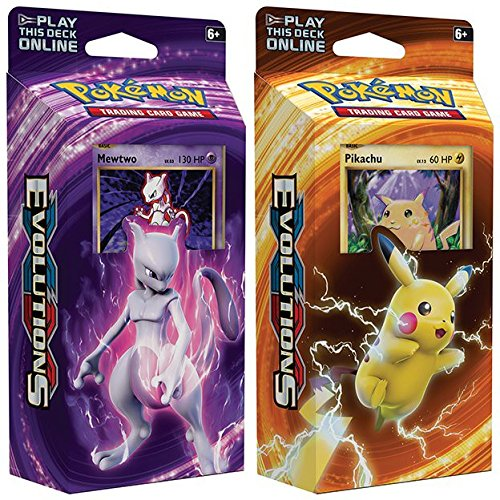 Nintendo Pokemon Mewtwo & Pikachu XY Evolutions TCG Card ...