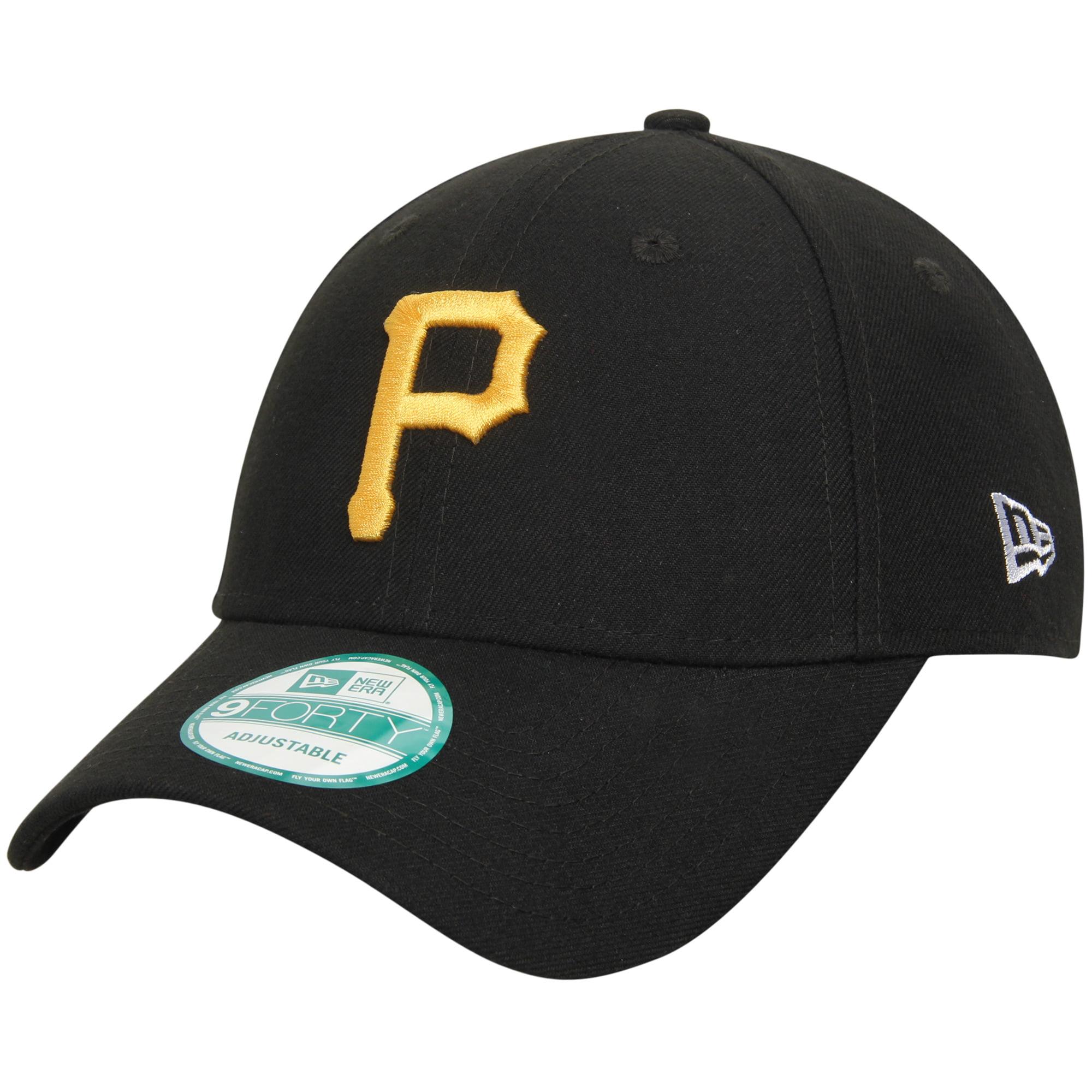 Pittsburgh Pirates New Era Men's League 9Forty Adjustable Hat - Black - OSFA
