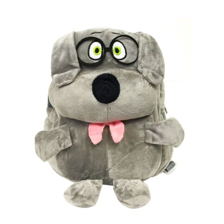 Wrapables® Plush Friendly Animals Backpack for Toddlers, Gray Dog