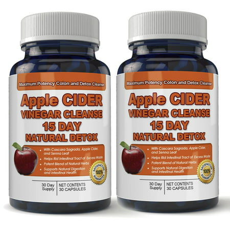 Apple Cider Vinegar Cleanse Natural Detox and Weight Loss (2 bottles x 30