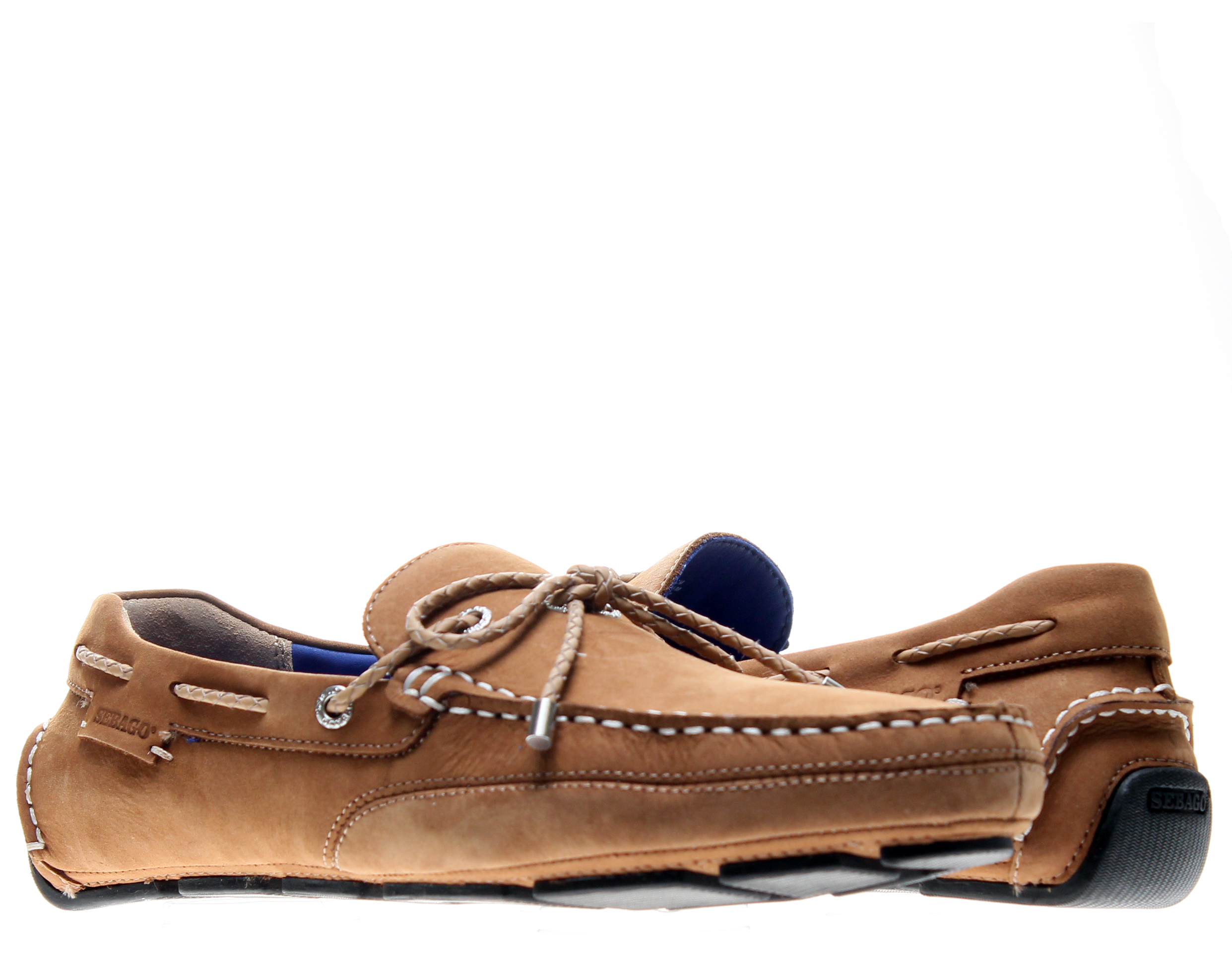 Sebago Kedge Tie Tan Nubuck Men's Boat Shoes B810107 by