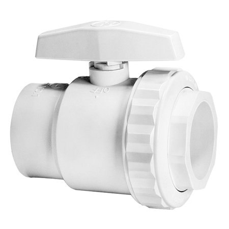 SP0722S Trimline 2-Way Ball Valve, 1-1/2-Inch SKT Pipe PVC Material, Valves are non-corrosive By Hayward