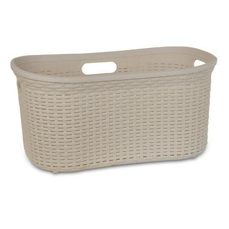 Superio Laundry Basket, Palm Luxe Collection 1.4 Bushel (Beige)