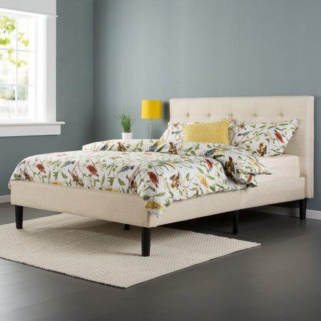 Zinus Upholstered Button Tufted Platform Bed - Walmart.com