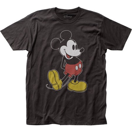 Mickey Mouse Pose 2 Disney Fitted Jersey T-Shirt (Two Main Characters In Mice And Men)