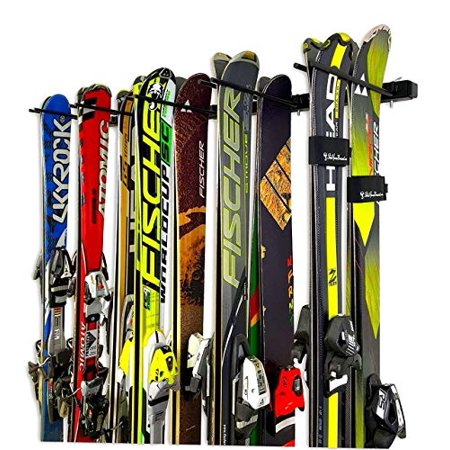 Omni Ski and Snowboard Wall Storage Rack | Holds 10 Pairs of Skis | StoreYourBoard