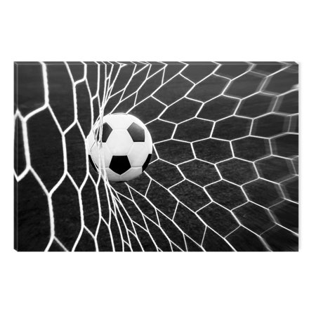 startonight canvas wall art black and white abstract soccer ball