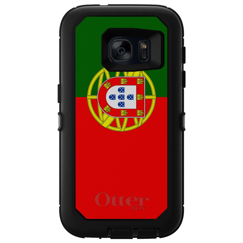CUSTOM Black OtterBox Defender Series Case for Samsung Galaxy S7 Portugal Flag