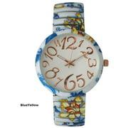 Olivia Pratt Womens Floral Stretch Watch