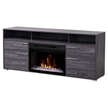 Dimplex Sander Electric Fireplace Media Console Carbonized Walnut