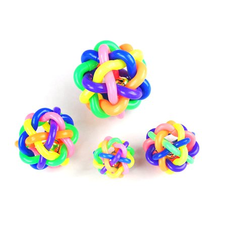 Dog toy ball color rubber woven ball dog toy ball vocal molar rainbow ball - image 2 of 6