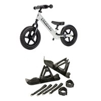 Strider 12 Sport Balance Bike + 12 Inch Bike Outdoor Winter Snow Ski Set