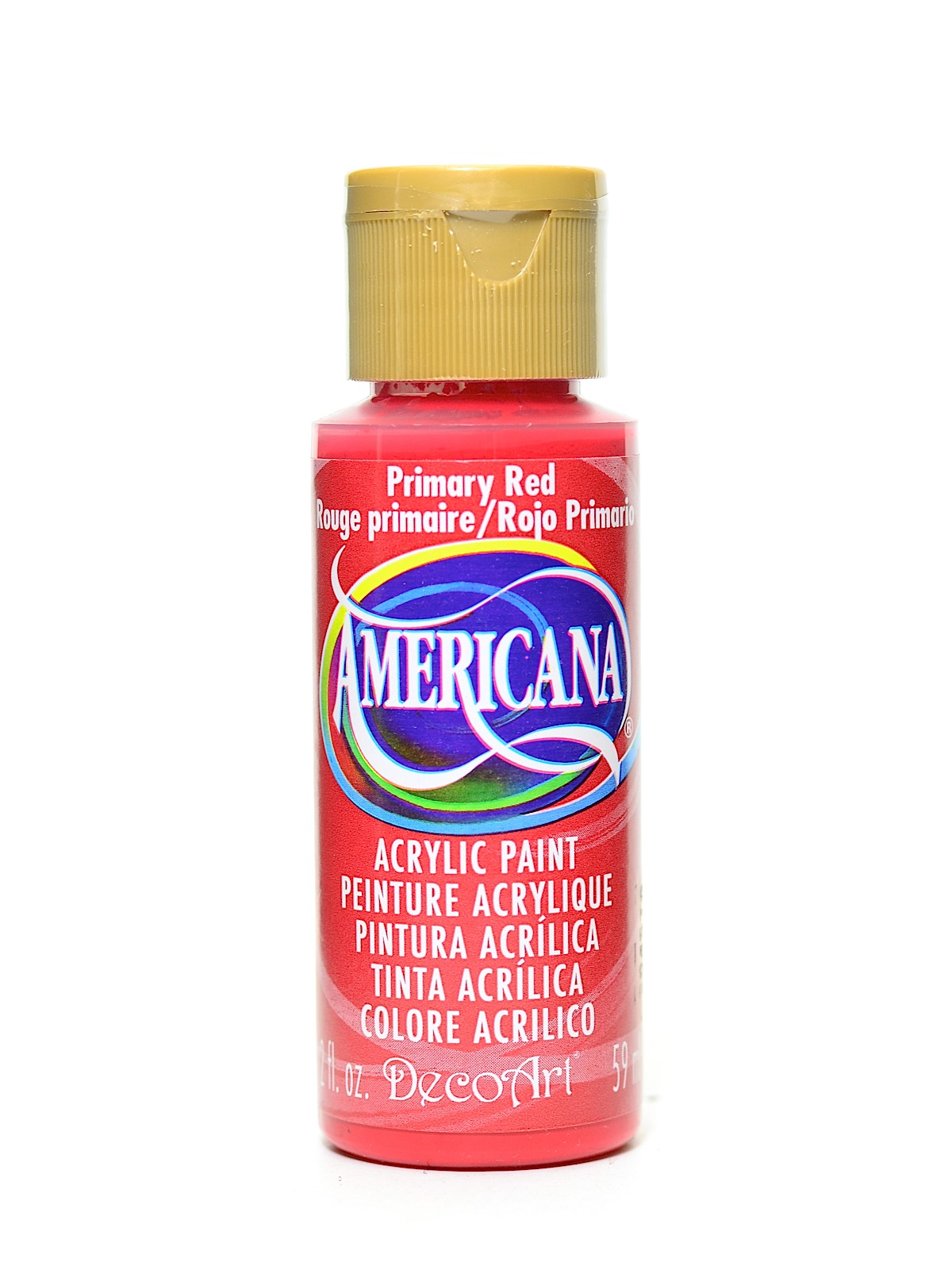 Americana Acrylic Paints Primary Red 2 Oz Pack Of 8