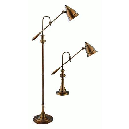 Watson Metal Floor and Table Lamp Set